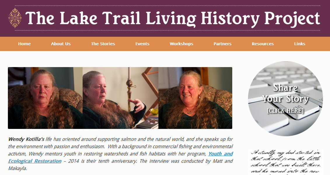Lake Trail Living History Project features Wendy Kotilla