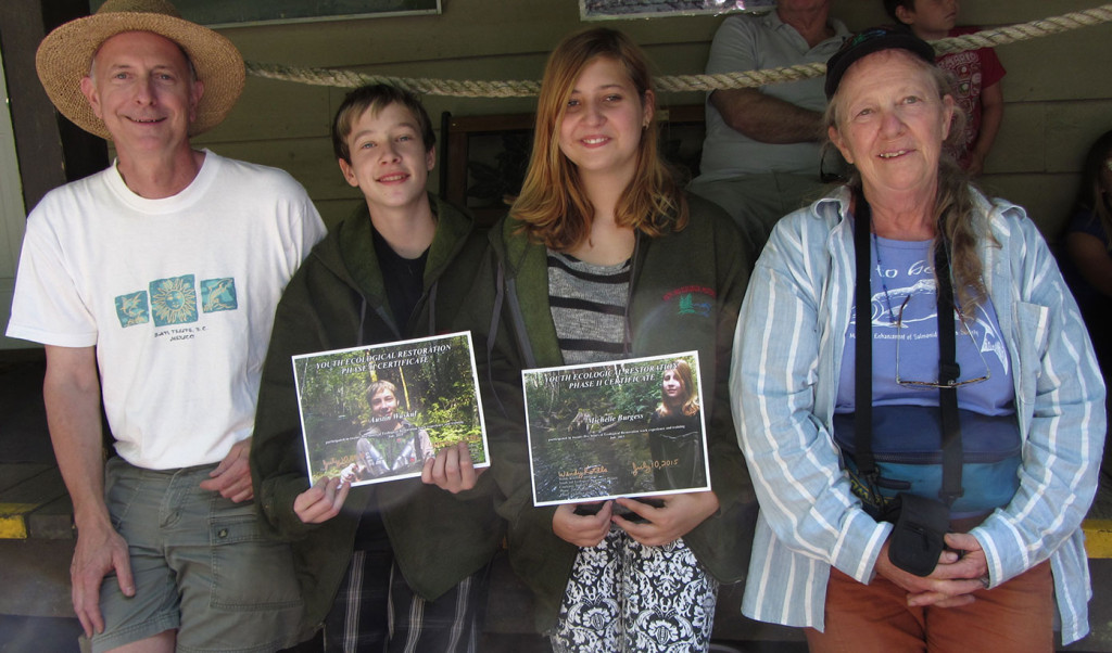 Ian-Moul,-Austin-Waskul,-Michelle-Burgess-and-Wendy-Kotilla-on-Bear-Creek-Nature-Park-Tour-in-July-web