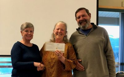Wendy Kotilla Presented with Cheque by the Courtenay and District Fish & Game Protective Association
